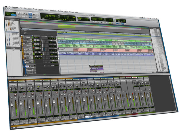 Pro Tools' interface has been given a facelift.