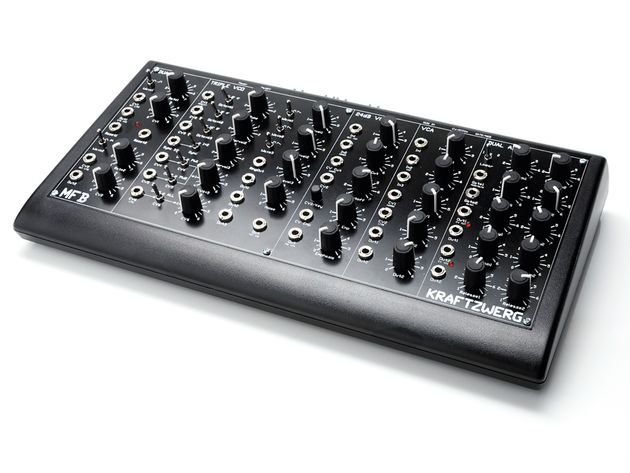 The Kraftzwerg's semi-modular design means that it can make a sound without a single patch cable being plugged in.