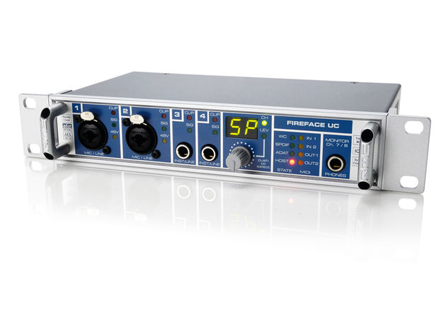 The Fireface UC offers a wide range of I/O and routing options.