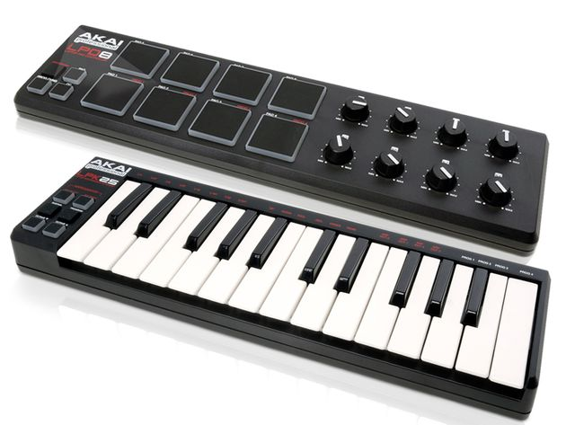 The LPD8 (top) has MPC-style pads, while the LPK25 offers a proper keyboard action.