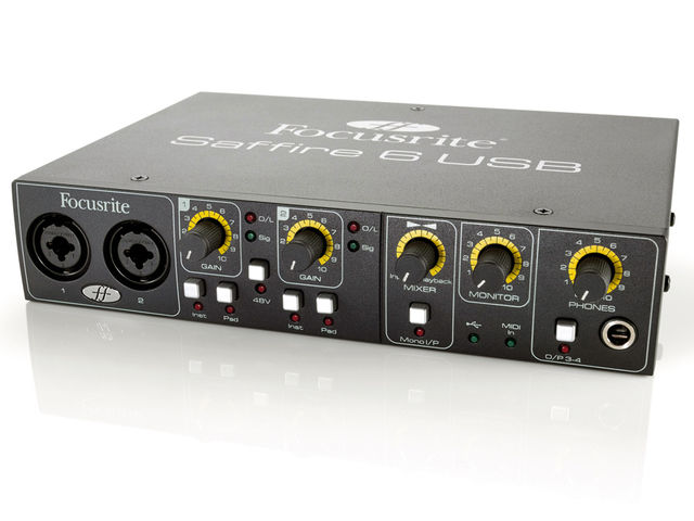The Saffire 6 USB has two inputs and four outputs.