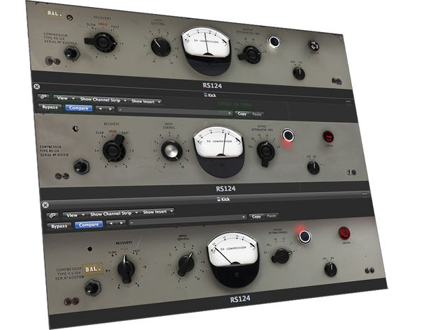 The three RS124 compressors sound subtly different.