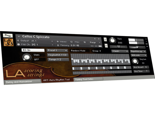 LA Scoring Strings runs in either Kontakt or Kontakt Player.