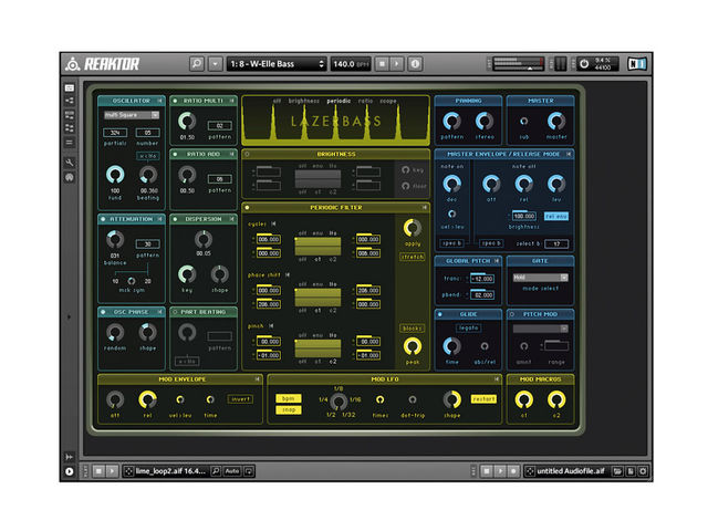 Using Reaktor previously often resulted in a very cluttered screen. The new UI puts needed features at hand in a tidy single window.