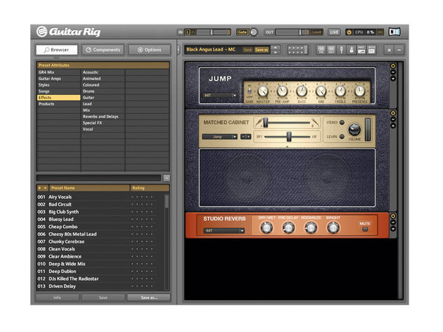 The new Guitar Rig Player includes the library and can be downloaded for free.