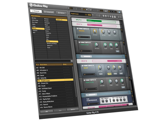 Traktor Pro's effects are now available in Guitar Rig for use in your productions.