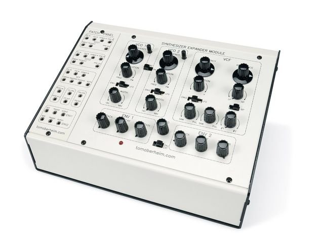 On the optional patch panel, 33 inputs and outputs are available, turning the SEM into a semi-modular synth.