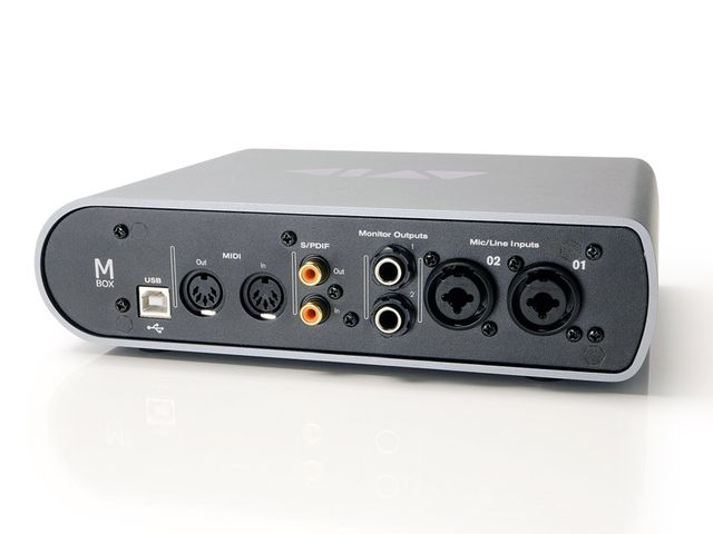 The Mbox crams a good number of connections into its small surface area.