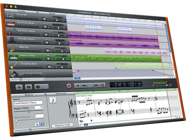 GarageBand's GUI has remained remarkably similar since its Inception in 2004.
