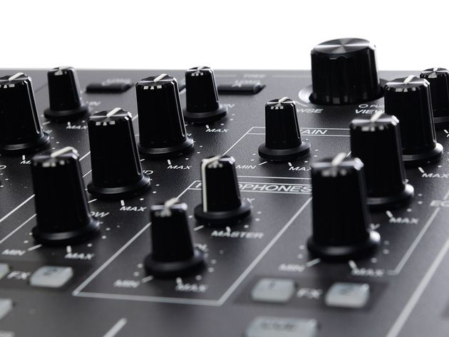 Assign FX channels, adjust EQ and gain using the mixer.