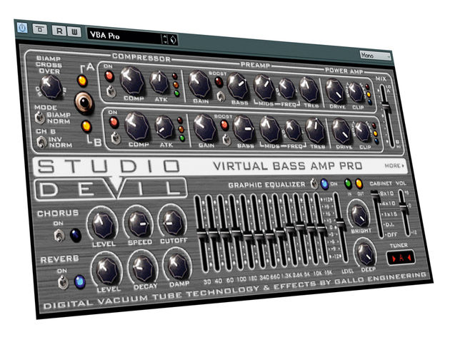 VBA Pro comes stocked with plenty of tone-shaping controls.