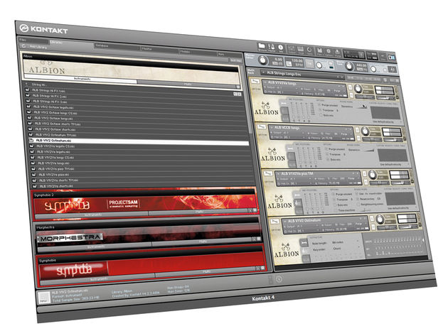 Albion runs via NI's Kontakt or its sibling Kontakt Player, which is bundled with the download.