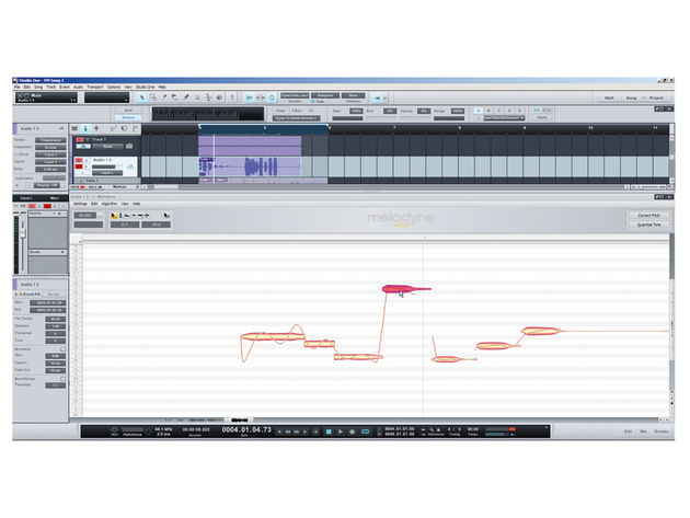 A version of Celemony's Melodyne is built in to Studio One 2.