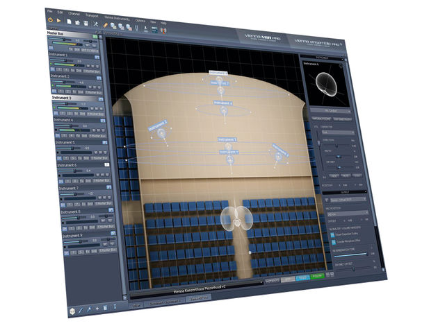 With MIR, your virtual orchestra has a virtual soundstage.