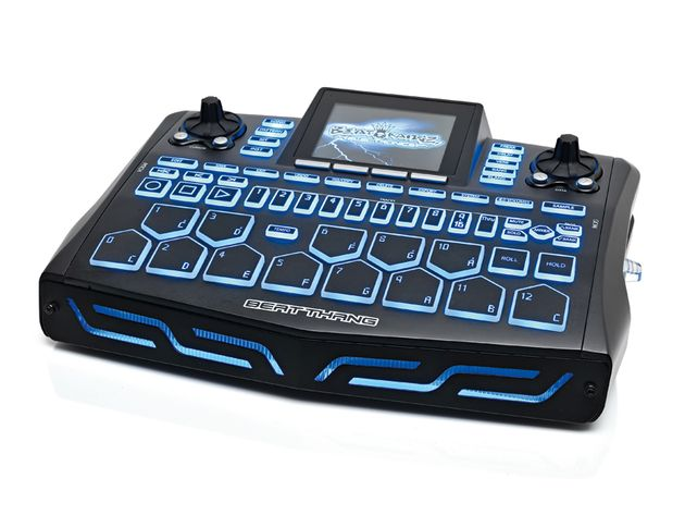 The Beat Thang features 13 velocity sensitive pads in a piano octave layout.