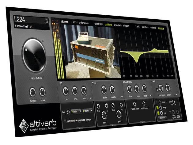 Altiverb 7 dispenses with its predecessor's faux-rackmount view.