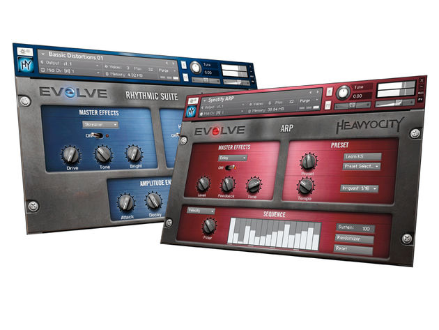Rhythmic Suite and Arp are two of Heavyocity Evolve R2's five sonic options.