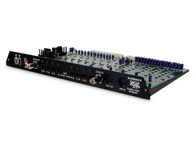 A slot on the back of the GS-R24 enables you to add an analogue or digital interface board to connect with your DAW.