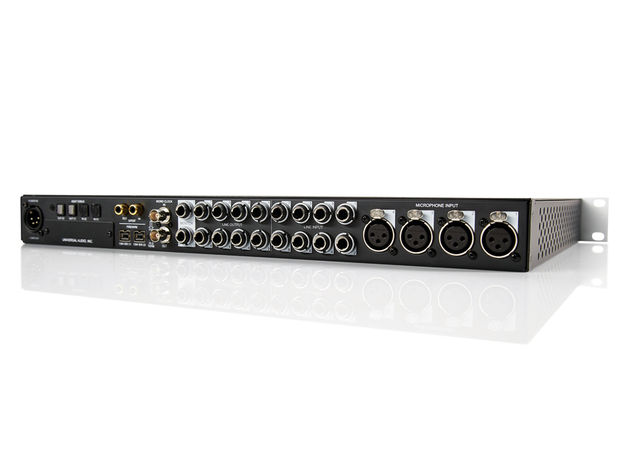 The Universal Audio Apollo features FireWire 800 and optional Thunderbolt (both dual ports).