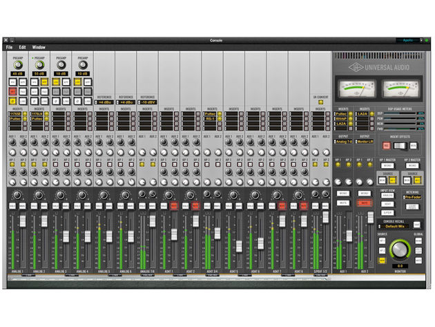 All of the Universal Audio Apollo's front-panel hardware features can be controlled using the main software interface, Console.