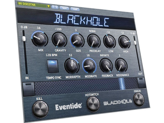 Reverb's not the kind of effect that generally lends itself to real-time tweaking, but Blackhole positively revels in it