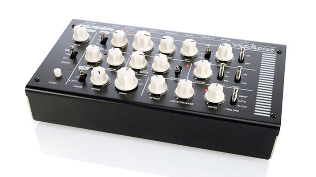The Retroverb comes in a sturdy steel enclosure and hosts a front panel laden with knobs and switches