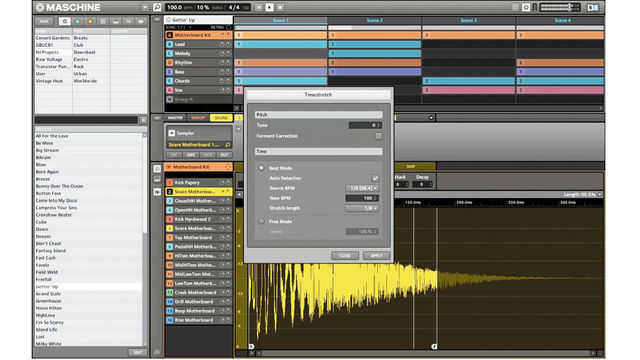 Maschine 1.8 software sees the introduction of independent offline timestretching and pitchshifting