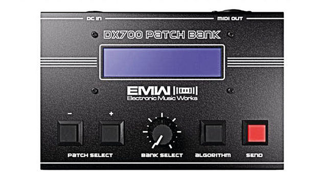 Electronic Music Works' (EMW) DX700 is a hardware box containing 700 SysEx patches for the DX7