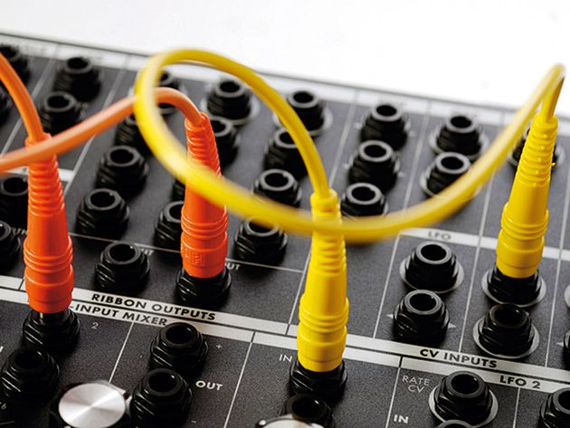 The added patchbay offers a huge range of CV and gate ports for sound routing.