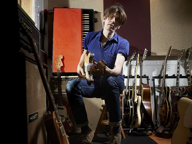 Bernard Butler shows off his guitar collection
