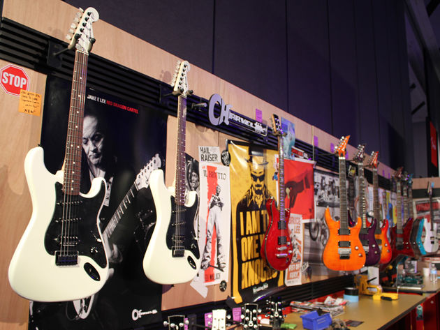 Charvel stand in pictures