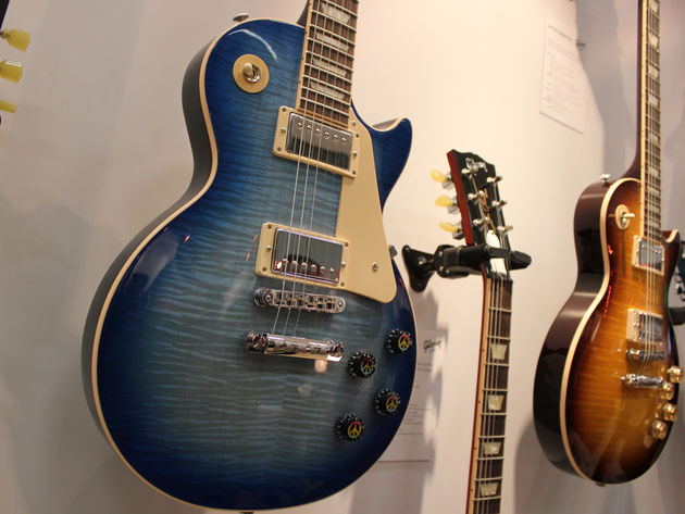 Les Paul Peace Tranquility Blue Burst