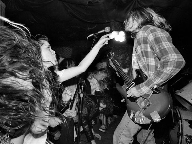 Experiencing Nirvana: Kurt on stage, Rajis, LA