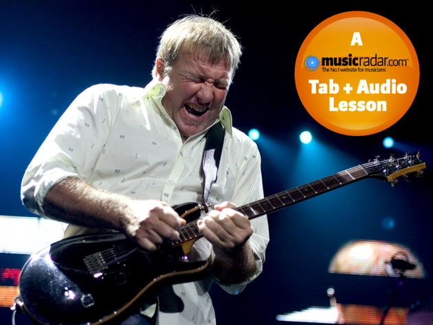 Alex Lifeson live with Rush in Las Vegas