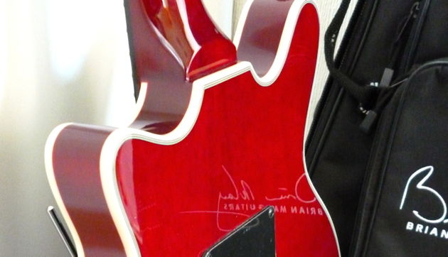 The heel joint of the Brian May guitar