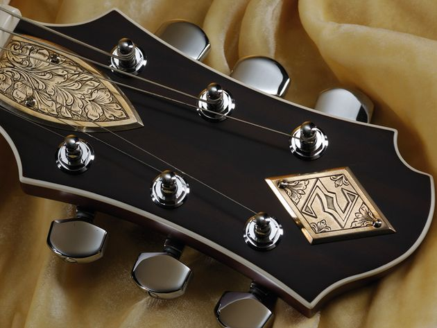The distinctive Zemaitis headstock