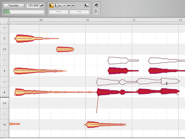 Melodyne Editor enables you to go in and edit specific notes in polyphonic audio