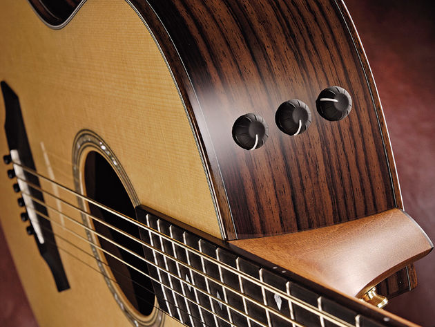 Taylor's Expression System keeps all eight strings in check when plugged in