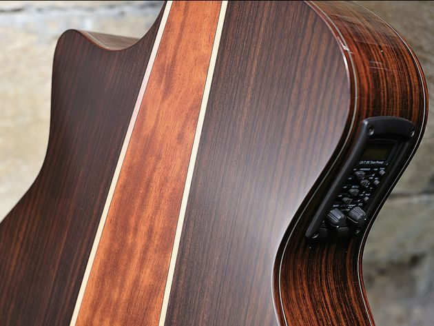The bubinga centre strip adds some flash to the rosewood back.