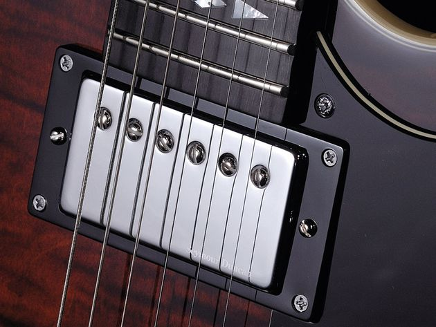 The Alnico Pro II humbuckers give the Custom a more civilised tone.