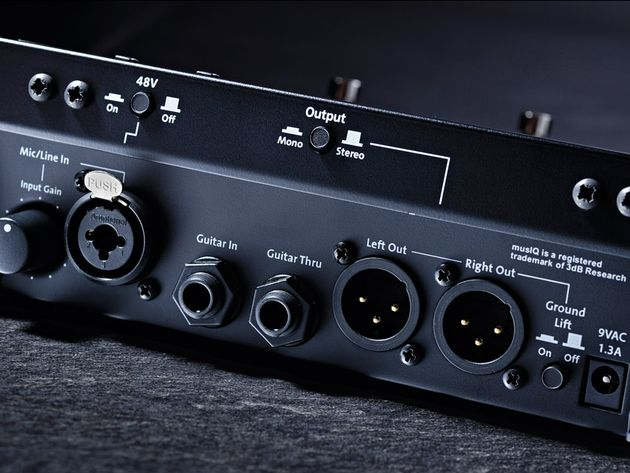 The Live 3 can output in stereo and offers separate channels for guitar and vocals.