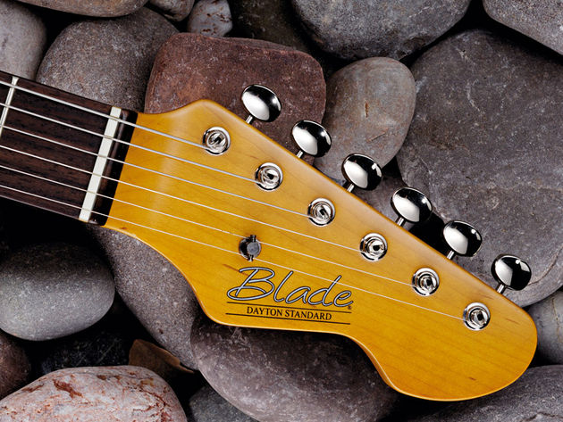 The Dayton's peghead has echoes of Fender, of course, but remains litigation-free.