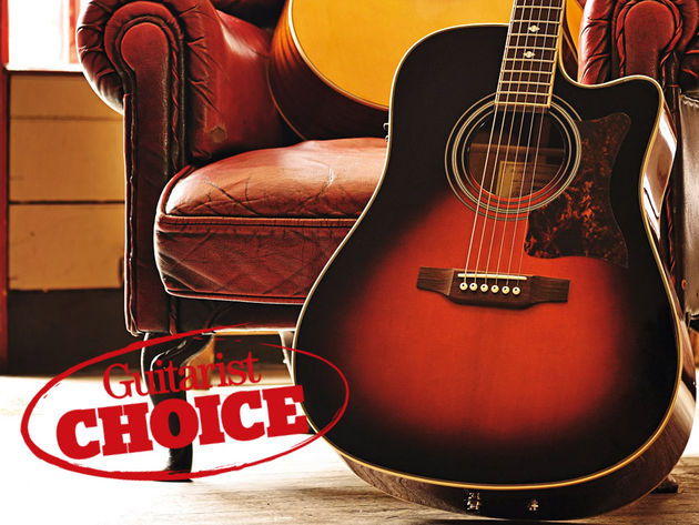 The essence of a vintage acoustic captured in a modern guitar.