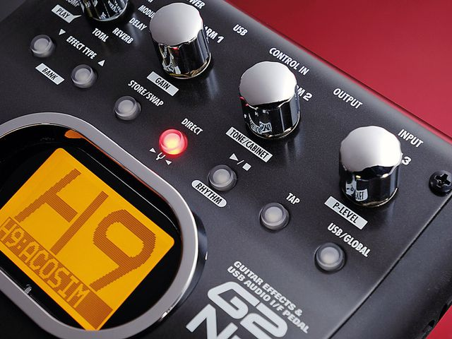 The G2 can be used with an amp, or as a complete source of sounds.