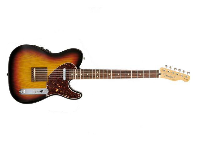 Fender have obviously aimed to keep this hybrid as 'electric' looking as possible.