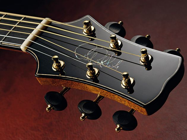 The neck and headstock is a single piece of mahogany.