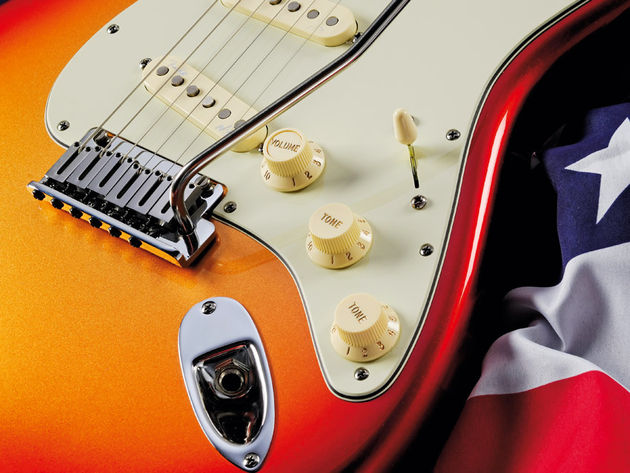 The American Deluxe guitars feature the updated S-1 switching system.