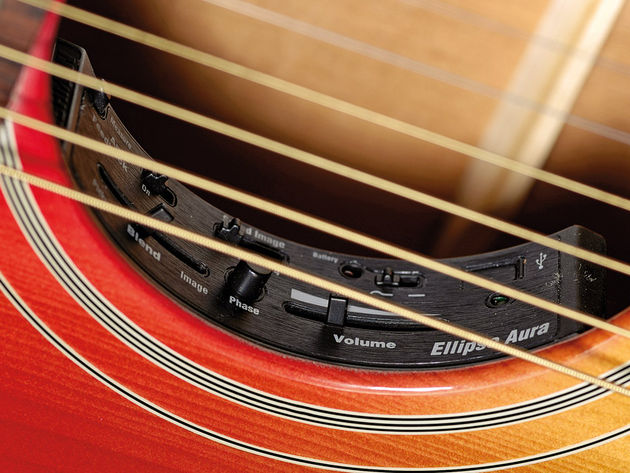 The guitar uses the Ellipse Aura system, of which Brad is a massive fan.