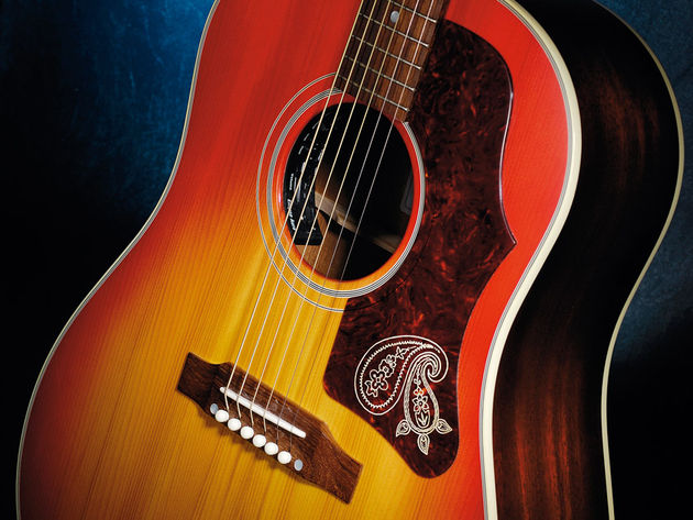 """Trying to recreate the magic of that old '60s guitar [1963 J-45] was the starting point for creating this signature J-45"" - Brad Paisley"