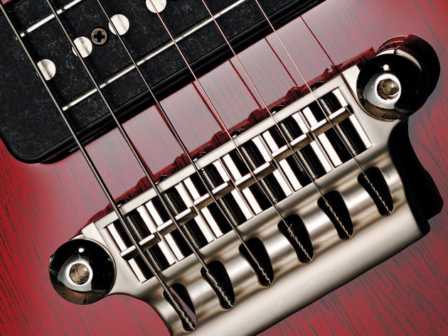 The Virage II guitars sport the same MaxContact bridge as the rest of the Vox line.